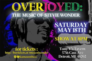 Overjoyed: The Music of Stevie Wonder @ Tony V's Tavern